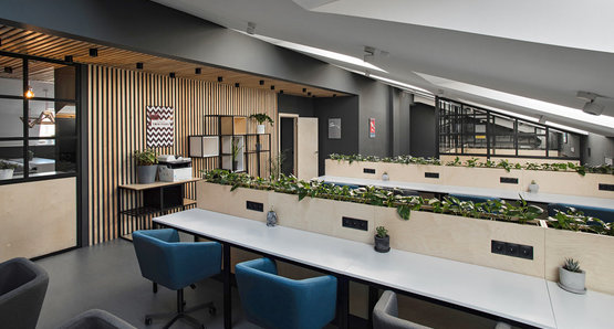 Coworking Praktik on Nevsky 153, the flagship of our chain. More than 100 places for individual and ...